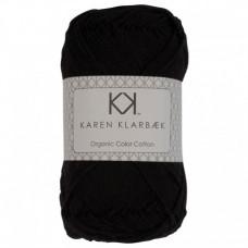 Karen Klarbæk - Økologisk bomuldsgarn 8/4 - Black