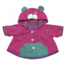 Rubens barn - Baby dukketøj - Pink Teddybear Jakke