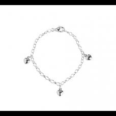Nordahl Andersen - Armbånd sølv - hjerter