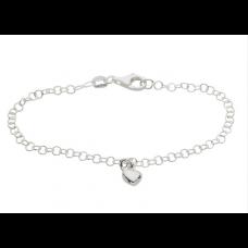 Nordahl Andersen - Armbånd sølv - med sølvhjerte