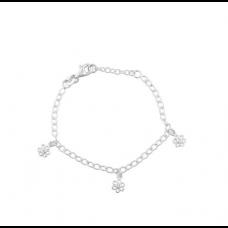 Nordahl Andersen - Armbånd sølv - med blomster