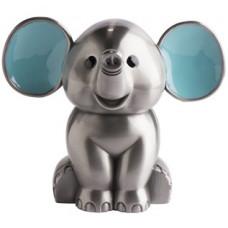 Nordahl Andersen - Sølvplet Sparebøsse - Elefant med blå ører
