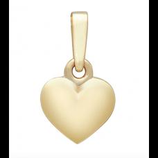 Nordahl Andersen - Vedhæng sølv - Massiv guld hjerte, 13 mm