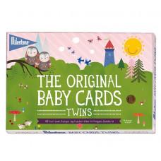 Milestone - The Original - Tvillinge baby kort - Dansk version