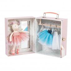 Moulin Roty - Dukke - Ballerina mus i kuffert