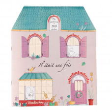 Moulin Roty - Malebog med stickers - Huset