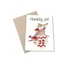 Mouse & Pen - Julekort - Kravlenisser i vante