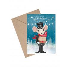 Mouse & Pen - Julekort -