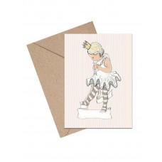 Mouse & Pen - Lykønskningskort - Lille ballet pige