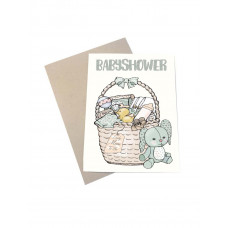 Mouse & Pen - Lykønskningskort - Babyshower kort