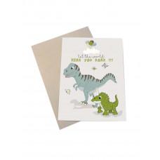 Mouse & Pen - Lykønskningskort - Dino