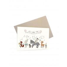 Mouse & Pen - Lykønskningskort - LET'S HAVE FUN!