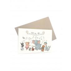 Mouse & Pen - Lykønskningskort - Play all day
