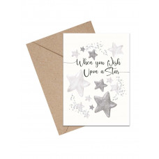 Mouse & Pen - Lykønskningskort - Upon a Star