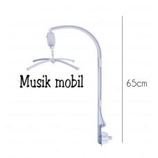 Tilbehør - Musikuro holder med roterende spilledåse - Lysgrå