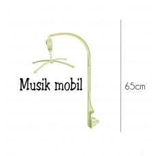 Tilbehør - Musik uro holder med roterende spilledåse - Gul