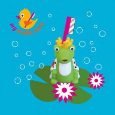 My toothie duck - Tandbørsteholder til børn - Frøkonge and
