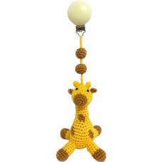 Naturezoo - Hæklet barnevognsophæng Øko-Tex - Giraf