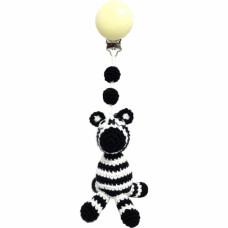 Naturezoo - Hæklet Barnevognsophæng Øko-Tex - Zebra