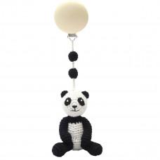 Naturezoo - Hæklet barnevognsophæng Øko-Tex - Sir Panda
