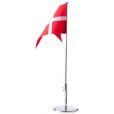 Nordahl Andersen - Bordflag 40 cm - Forkromet med dåbsfod og gravering