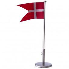 Nordahl Andersen - Bordflag 40 cm - Fortinnet med dåbsfod og gravering
