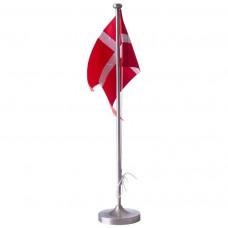 Nordahl Andersen - Bordflag 38,5 cm - Fortinnet med rund dåbsfod og gravering