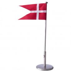 Nordahl Andersen - Bordflag 30 cm - Fortinnet med dåbsfod og gravering