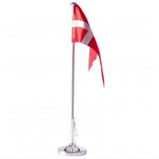Nordahl Andersen - Bordflag 38,5 cm - Chrom med rund dåbsfod og gravering