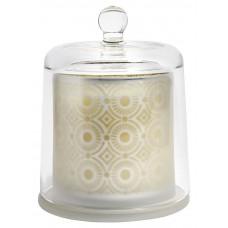 Nordal -  BELL duftlys i glas med låg - Teawood/Sugarcane