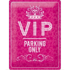 Nostalgic Art - Metal skilt - Vip Parking only - Pink