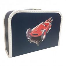 Kuffert - Blå Racerbil - Mellem