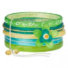Lalo - Armbånd - 5 stk. - Green Blossom