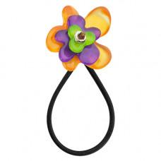 Lalo - Hårelastik - Purpel/orange flower