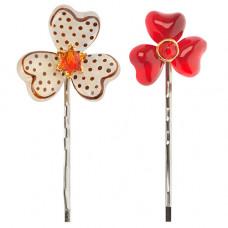 Lalo - Hårpins - Hårnåle - Red flower treasures