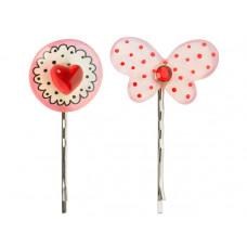 Lalo - Hårpins - Hårnåle - Valentine heart and butterfly