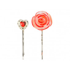 Lalo - Hårpins - Valentine-heart and rose
