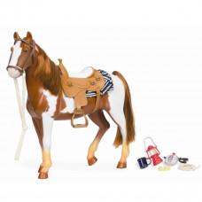 Our Generation - Dukketilbehør - Broget hest