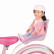 Our Generation - Dukke tilbehør - Cykelstol og cykelhjælm - Hvid