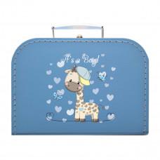 Papkuffert - Himmelblå med giraf - XL