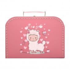 Papkuffert - Rosa med lama - XL