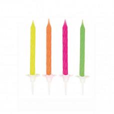 Fødselsdagslys - Kagelys - Lagkagelys - Neon