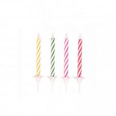 Fødselsdagslys - Kagelys - Lagkagelys - Striber