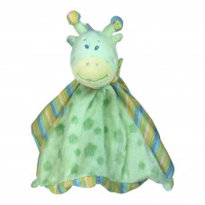 Nusseklud - Med rangle - Pastel grøn giraf