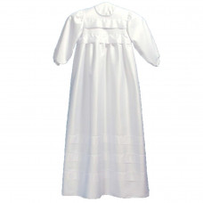 Perfect Day - Dåbskjole - Satin - med flæser - hvid