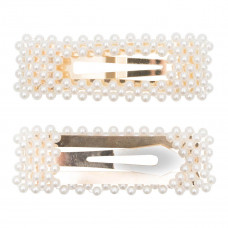 Little Wonders - Guld spænde med hvide perlemors perler - Lærke 8 cm
