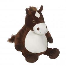 Personlig bamse - Evt. med navn, data eller tekst som ekstra tilvalgsmulighed - 41 cm - Hest