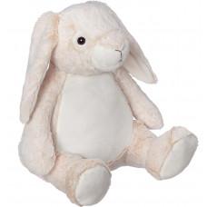 Personlig bamse - Evt. med navn, data eller tekst som ekstra tilvalgsmulighed - 41 cm - Kanin