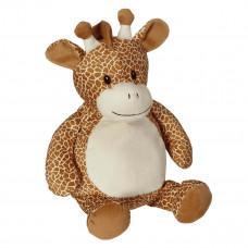 Personlig bamse - Evt. med navn, data eller tekst som ekstra tilvalgsmulighed - 41 cm - Giraf