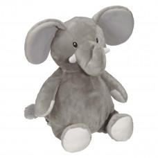 Personlig Bamse - Med navn, data eller tekst - Grå elefant